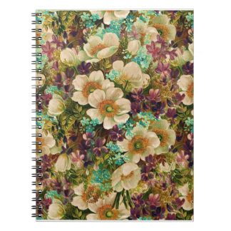 Gorgeous Vintage Mixed Floral Note Book