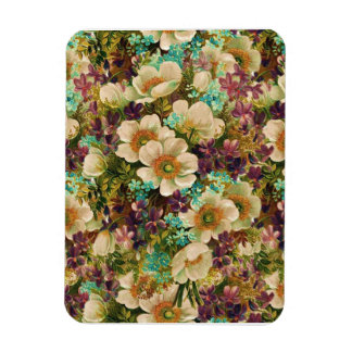 Gorgeous Vintage Mixed Floral Rectangular Magnets