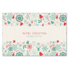 Gorgeous Vintage style Merry Christmas greeting Tissue Paper
