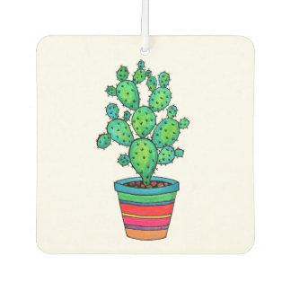 Gorgeous Watercolor Cactus In Beautiful Pot Car Air Freshener