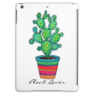 Gorgeous Watercolor Cactus In Beautiful Pot Case For iPad Air