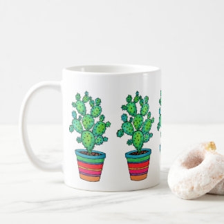 Gorgeous Watercolor Cactus In Beautiful Pot Coffee Mug