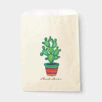 Gorgeous Watercolor Cactus In Beautiful Pot Favour Bag