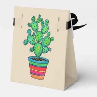 Gorgeous Watercolor Cactus In Beautiful Pot Favour Box