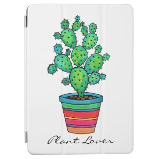 Gorgeous Watercolor Cactus In Beautiful Pot iPad Air Cover