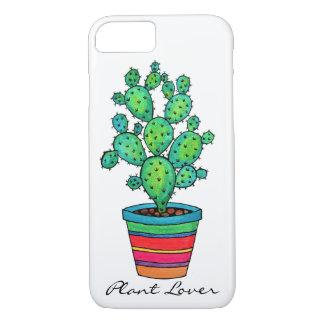 Gorgeous Watercolor Cactus In Beautiful Pot iPhone 8/7 Case
