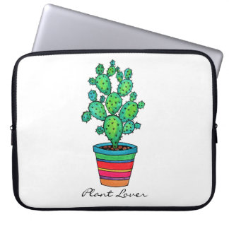 Gorgeous Watercolor Cactus In Beautiful Pot Laptop Sleeve