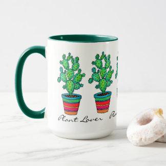 Gorgeous Watercolor Cactus In Beautiful Pot Mug