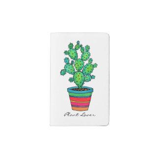 Gorgeous Watercolor Cactus In Beautiful Pot Pocket Moleskine Notebook