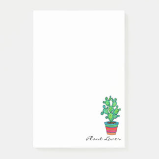 Gorgeous Watercolor Cactus In Beautiful Pot Post-it Notes