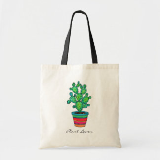 Gorgeous Watercolor Cactus In Beautiful Pot Tote Bag