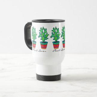 Gorgeous Watercolor Cactus In Beautiful Pot Travel Mug