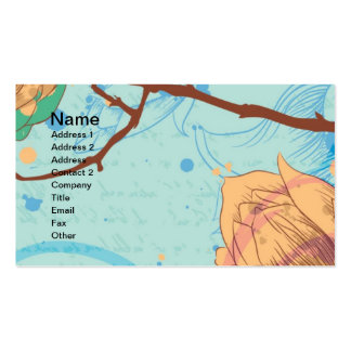 Gorgeous Watercolor Floral Cards, Gifts, Postage Business Card Template