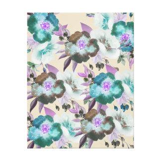 Gorgeous Watercolor Floral Pattern Design Canvas Print