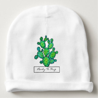 Gorgeous Watercolor Prickly Cactus Baby Beanie