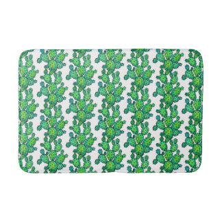 Gorgeous Watercolor Prickly Cactus Bath Mat