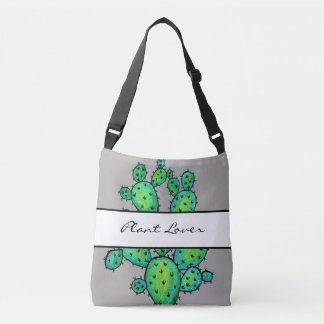 Gorgeous Watercolor Prickly Cactus Crossbody Bag