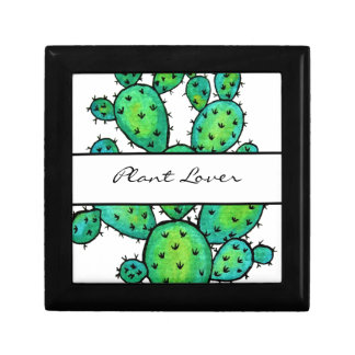 Gorgeous Watercolor Prickly Cactus Gift Box