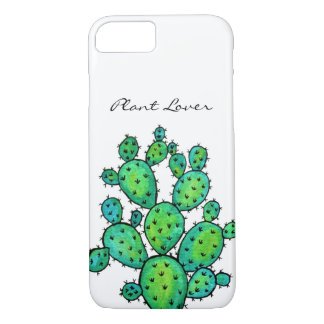 Gorgeous Watercolor Prickly Cactus iPhone 8/7 Case