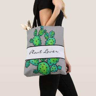 Gorgeous Watercolor Prickly Cactus Tote Bag