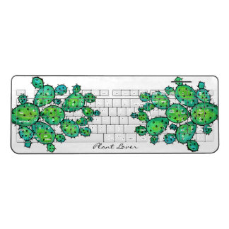 Gorgeous Watercolor Prickly Cactus Wireless Keyboard