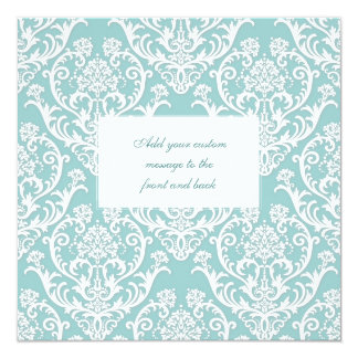 Gorgeous White Damask Pattern Card