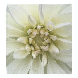 Gorgeous White Flower Watercolor Bandana