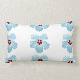 Gorgeous White Hawaiian Hibiscus Flower Pillow