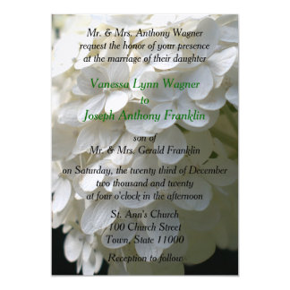 Gorgeous White Lime Hydrangea Wedding Invitations