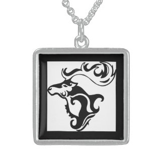 Gorgeous Wild Deer Sterling Silver Necklace