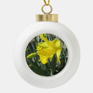 Gorgeous Yellow Daffodils Ceramic Ball Decoration