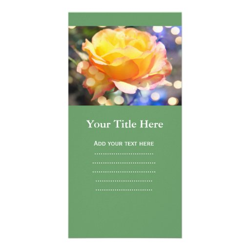Gorgeous yellow rose flower.  Floral photography Personalized Photo Card