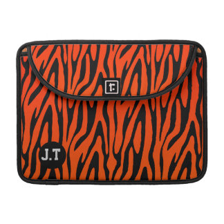 Gorgeous Zebra Skin Stripes Pattern Monogram Sleeve For MacBooks