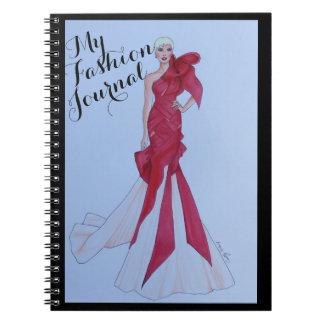 Gorgeously Designed Fashion Journal Spiral Notebooks