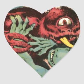 Gorgo and Cyclops Monster Heart Sticker