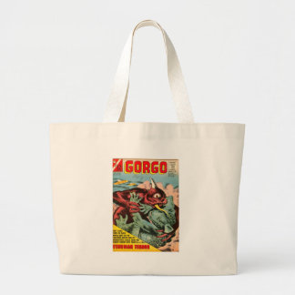 Gorgo and Cyclops Monster Large Tote Bag