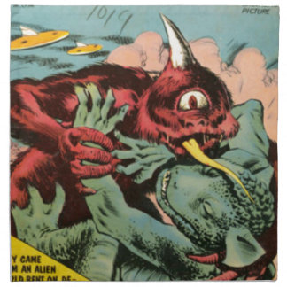 Gorgo and Cyclops Monster Napkin