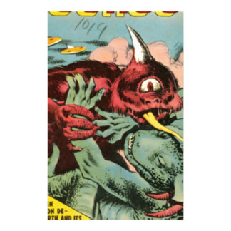 Gorgo and Cyclops Monster Personalized Stationery