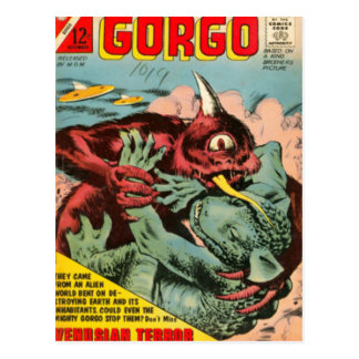 Gorgo and Cyclops Monster Postcard
