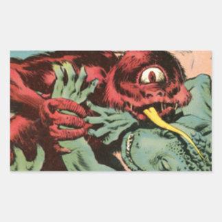 Gorgo and Cyclops Monster Rectangular Sticker