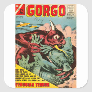 Gorgo and Cyclops Monster Square Sticker