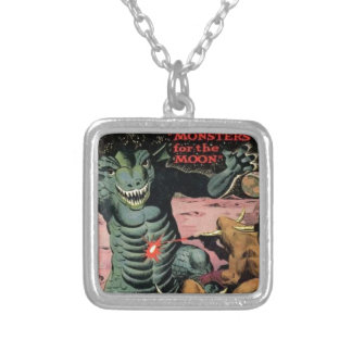 Gorgo on the Moon Silver Plated Necklace