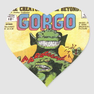 Gorgo the Creature from Beyond Heart Sticker