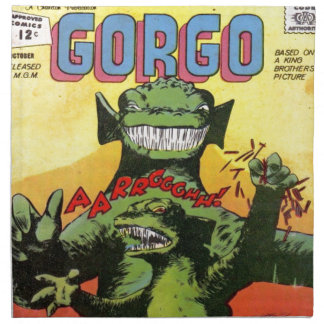 Gorgo the Creature from Beyond Napkin