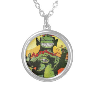 Gorgo the Creature from Beyond Silver Plated Necklace