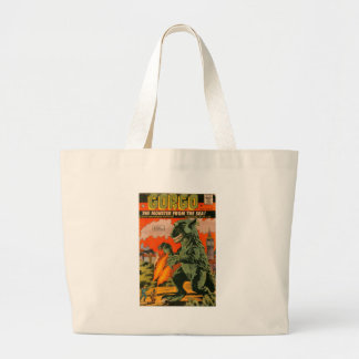 Gorgo the Monster from the Sea Large Tote Bag