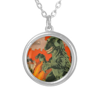 Gorgo the Monster from the Sea Silver Plated Necklace