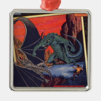 Gorgo vs. Pterodactyl Metal Ornament