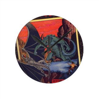 Gorgo vs. Pterodactyl Round Clock