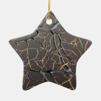 Gorgonian coral ceramic ornament
